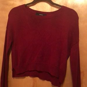 Cranberry cropped sweater